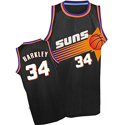 Men's Barkley Jerseys Phoenix 34 Jersey Black (Charles Barkley Phoenix Suns)