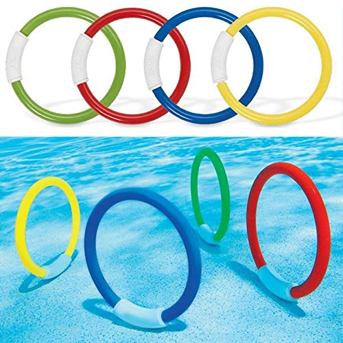 Hai Dreams 4 Pcs/Pack Child Kid Diving Ring Water Toys Underwater Swimming Pool Accessories Diving Buoys Loaded Throwing Toys