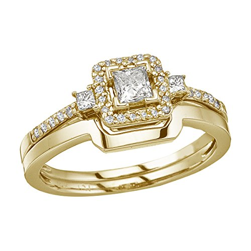 0.44 Ct Princess Diamond - 3