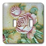 3dRose LLC lsp_14481_2 Ceramic Roses, Double Toggle Switch