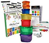 21 DAY smartYOU 7 Piece Portion Control Containers Kit + COMPLETE GUIDE + 21 DAY PLANNER + RECIPE eBOOK + TAPE MEASURE, BPA FREE Color Coded Meal Prep System for 21 Day Fix Diet and Weight Loss