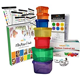 21 Day Fix Containers - 28 PC 1 ✅【CONTROL CALORIES AND LOSE WEIGHT】 Finally, live the highest most 'best' version of yourself! Lose weight and look great while enjoying a healthy lifestyle. This dynamic 7 piece portion control kit allows you to observe, manage and maintain a balanced diet - everyday! Control your meal plans with these simple, color coded and systemized food containers. Over 100,000 units sold worldwide! Weight loss made easy - without hassles! ✅【SUPREME QUALITY】 What good are portion control food containers if they don't last you? Our 21 Fix Diet containers are made from premium grade polypropylene. Robust, sturdy and built to last! 100% BPA, DEHP, Chemical and Toxin FREE! Dishwasher, Microwave and Freezer SAFE! Leakproof and secure, no more spillages to ever worry about! Enjoy your favorite meals daily knowing your health and wellbeing is truly at the very core of our customer philosophy. ✅【COLOR AND LABEL CODED】 Whether you're at home, on the go, at work, gym, traveling or anywhere else - we've got you 'covered'. Literally! These portable color coded containers require no measuring for meal preparations! Convenient, label coded on the lids and quick to use, you can now easily combine your favorite foods for a balanced, portioned-controlled and healthy meal! Organize your veggies, fruits, proteins, healthy fats, carbs, seeds and dressings going simply by container color!