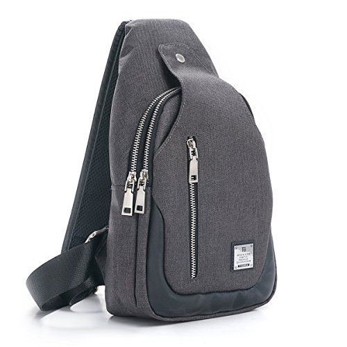 Sling Bag Chest Shoulder Backpack Crossbody Bags for Men Women Travel Outdoors Leather Mini Sling
