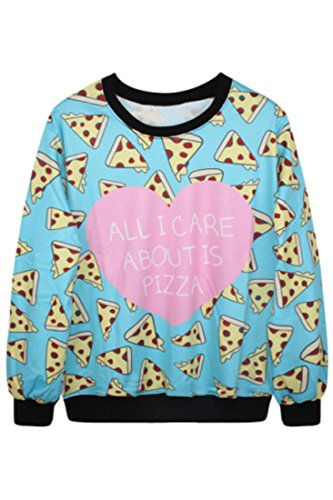 Azbro Women's Printted Neon Graphic Pullover Novelty Athletic Sweatshirts