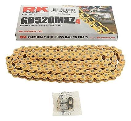 New RK GB520MXZ4 Chain 120 Link for Honda ATC 185 S 80-83, ATC 200 81-83, ATC 200 E 82-83, ATC 200 M 84-85, ATC 200 S 84-86, ATC 200 X 83-87, ATC 250 R ...