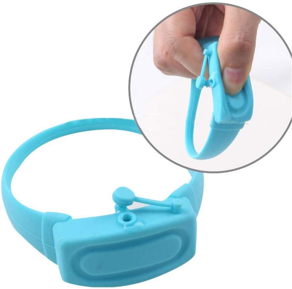 Enjoyyouselves Bracelet de Distribution de d/ésinfectant pour Les Mains Distributeur r/églable portatif de Bracelet de Silicone pour l/équipement ext/érieur denfants Adultes