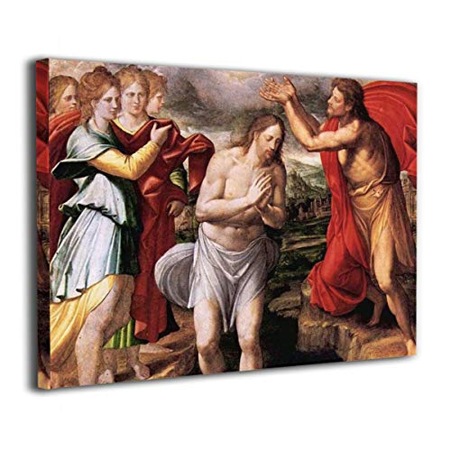 Canvas Artwork Paintings, Baptism of Jesus Wall Art Prints Picture Contemporary Home Decor 16