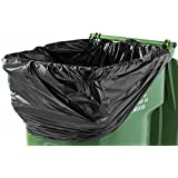 PlasticMill 100 Gallon Heavy Duty 1.3 Mil Trash Can Liners for Outdoor, Municipal, or Township Garbage Cans 50 Bags/case
