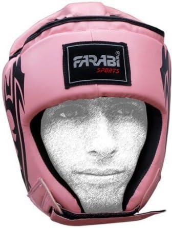 Farabi Female Boxing MMA Muay Thai Kickboxing jiu Jitsu Karate Taekwondo BJJ Martial Arts Training Punching Face Protector Head Guard.