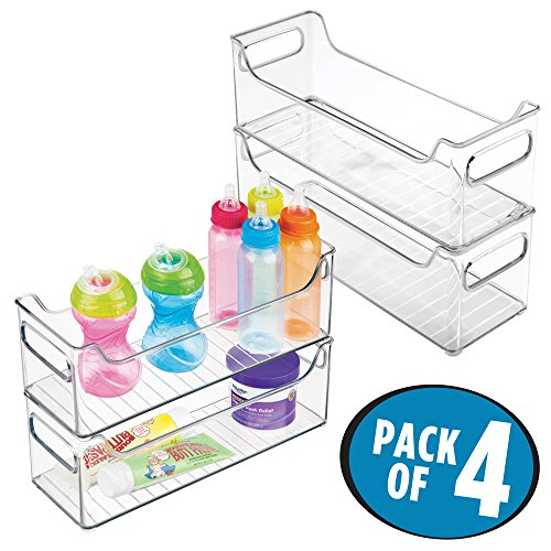 mDesign Baby Nursery Organizer Bins for Clothes, Diapers, To