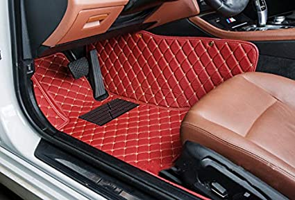 Custom Car Floor Mats for Toyota RAV4 2009-2012 Full Surrounded Waterproof Anti-Slip All Weather Protection Leather Material Car mat Carpet Liners Interior Accessories Beige