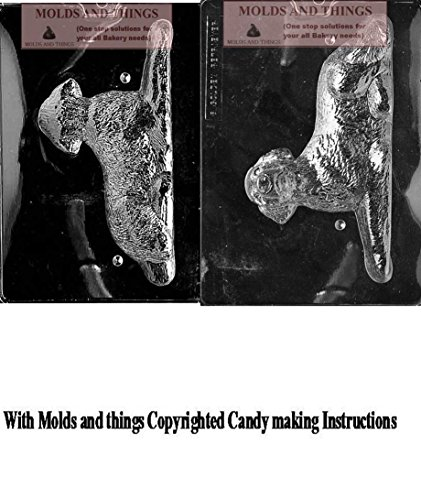 GOLDEN RETRIEVER Chocolate candy mold, Dog mold with copywrited molding Instructions ()