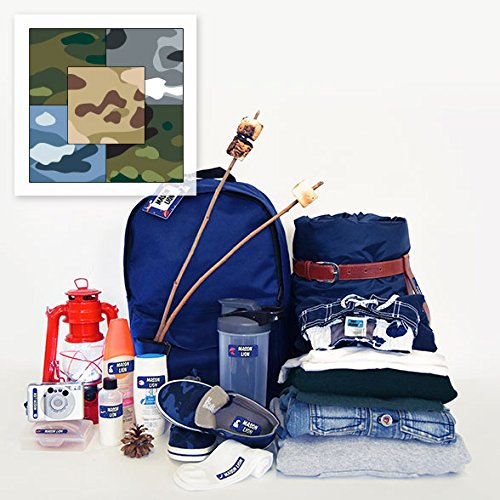 (Personalized Trekker Package Waterproof Weatherproof Stick on Laundry Safe Includes Labels and Bag Tags for Babies Kids and Toddlers (Camo Theme))