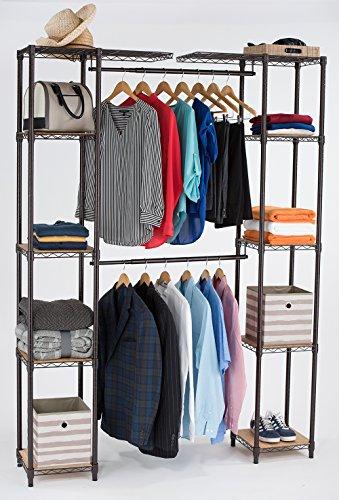 TRINITY Expandable Closet Organizer, Bronze