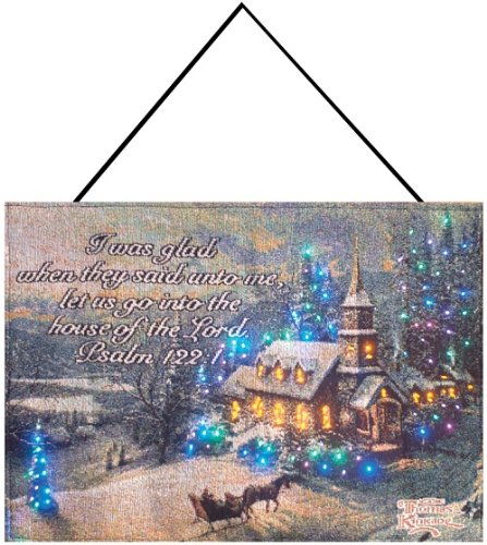 Thomas Kinkade Kinkade, Sunday Evening Sleigh Ride, Scripture Psalm 122:1