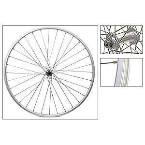Wheel Front 27 x 1 1/4 Alloy Rim, Silver, 36H, Schrader