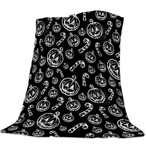 Advancey Halloween Hand-Painted Face Flannel Fleece Throw Blanket Lightweight Cozy Bed Sofa Blankets Super Soft Fabric,49x59 -