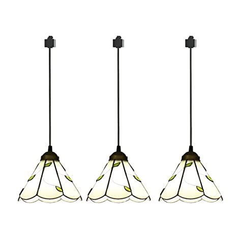 Amazon.com: ANYE - Pack de 3 colgantes de luz tipo H Tiffany ...
