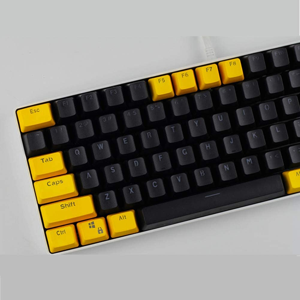 Sunzit Keycaps, 82 Teclas PBT Keycaps Backlight Bicolor Teclado Mecánico Keycap para Ajazz AK33 /KANANIC 82/KBT Race 2 (Solo se Venden Teclas)