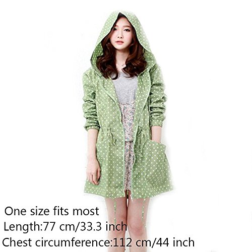 Ezyoutdoor Unisex's Easy Carried Rain Coat Wind Coat PVC 1 Per Pack ,Lady's Raincoat, Waterproof Hooded Clothing Rainwear Rain Jacket Quick Dry Cute Wind Coat(random color)