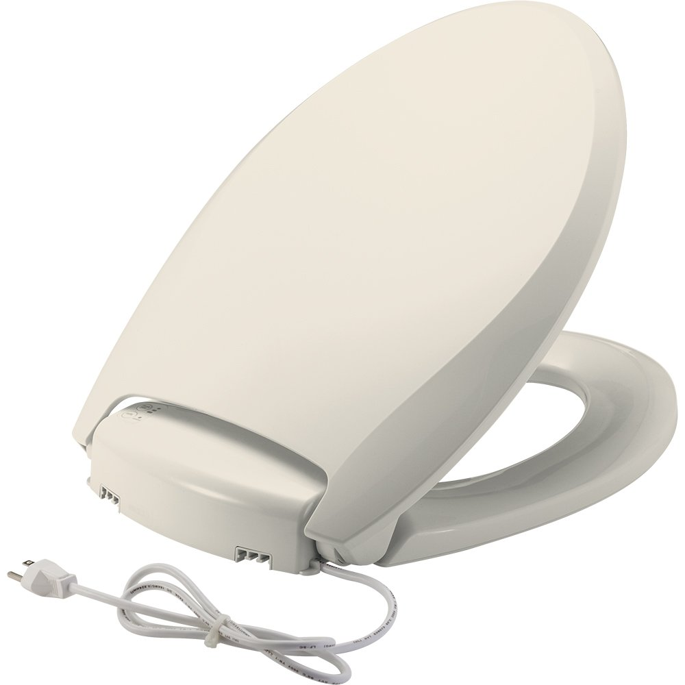 Bemis H1900NL 346 Radiance Heated Night Light Toilet Seat, Elongated, Biscuit by Bemis