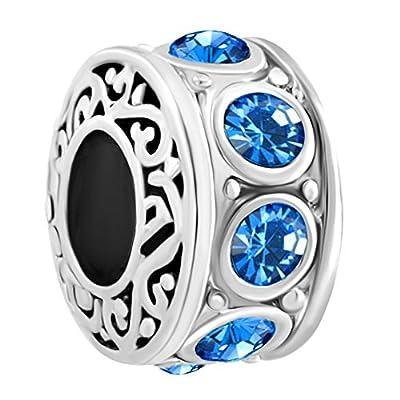 CharmsStory New Filigree Jan-Dec Birthstone Sale Cheap Beads Fit Pandora Charms Bracelet Jewelry