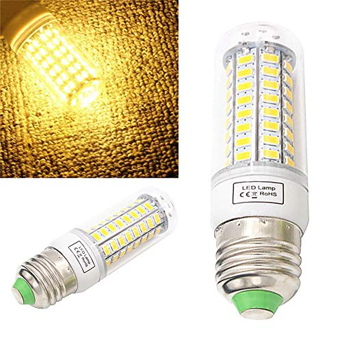 Corn Lantern Lights, Elevin(TM) E27 7W 220V 48LED 5730 SMD Energy Saving Light Corn Lamp Bulb (Yellow)
