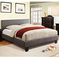 247SHOPATHOME IDF-7008GY-CK Platform-Beds, California King, Gray