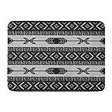Custom Doormats Black White Aztec Southwest Tribal Home Door Mats 18 x 30 inches Entrance Mat Floor Rug Indoor/Outdoor/Front Door/Bathroom Mats Rubber Non Slip