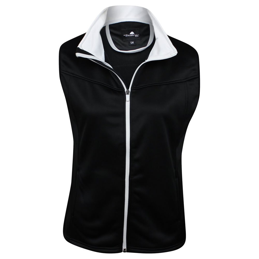 The Weather Apparel Co Poly Flex Golf Vest 2017 Women Black/White Small
