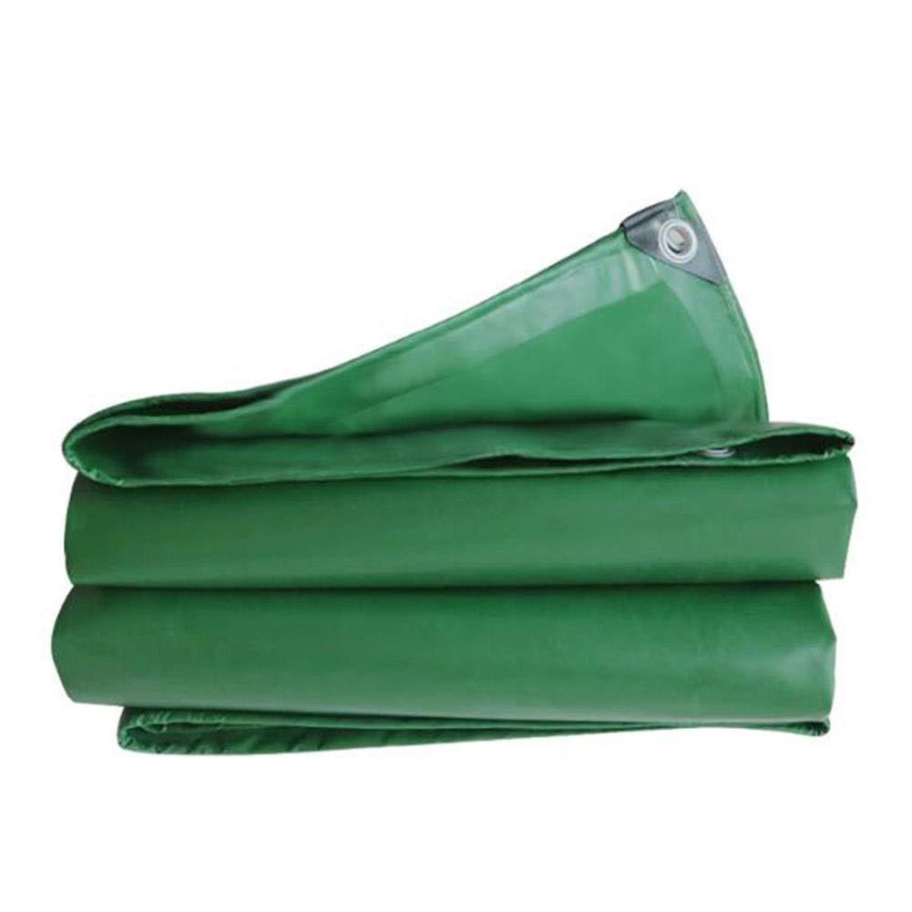 DALL 防水シート両面防水ヘビーデューティPVC防雨耐寒性倉庫屋外420 G/M² (Color : 緑, Size : 4×5m) 緑 4×5m