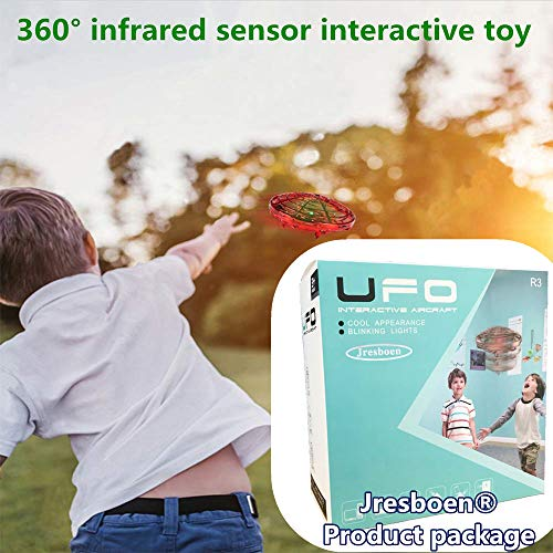 UFO Flying Ball Drone Toys, Jresboen [updated] Mini Drone Helicopter Infrared Sensing & Automatic Obstacle Avoidance Mini Quadcopter Drone Induction Aircraft Flying Saucer Toy Gift for Boys Girls Kids by Jresboen (Image #2)