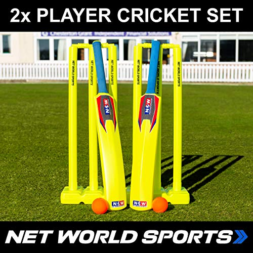 (Net World Sports Backyard Cricket Set - Complete Cricket Set for Kwik Cricket & at Home (Kids/Junior/Senior Sizes) (Senior))