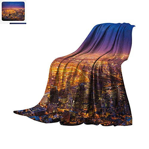 City Custom Design Cozy Flannel Blanket Cape Town Panorama at Dawn South  Africa Coastline Roads Architecture 566fdc7d36d61