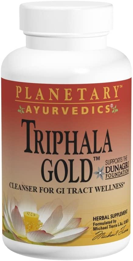 Planetary Herbals Triphala Gold 1000mg Extra Strength Ayurvedic – 120 Tablets Pack of 2