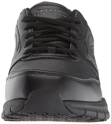 Skechers for Work Women's Nampa-Wyola Food Service Shoe, Black Polyurethane, 6.5 W US
