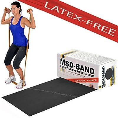 MSD bande Latex free forte spéciale 5,5MT utilisateur Ben allenato bande élastique noire