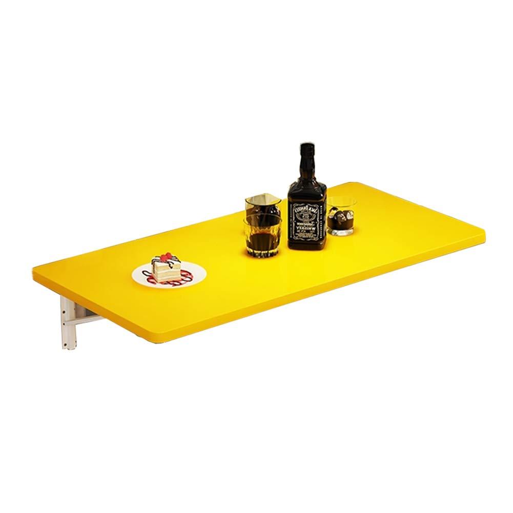 WNX Mesa Plegable Plegable de Pared, Mesa de Comedor de Cocina con Paneles a Base de Madera, Mesa de Aprendizaje portátil para niños Escritorio de Pared (Color : Amarillo, Tamaño : 60times;40cm)