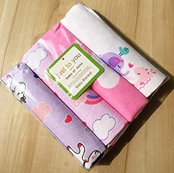 171e2c586438 Amazon.com  RedSonics - 4pcs pack 100% cotton supersoft flannel Baby ...