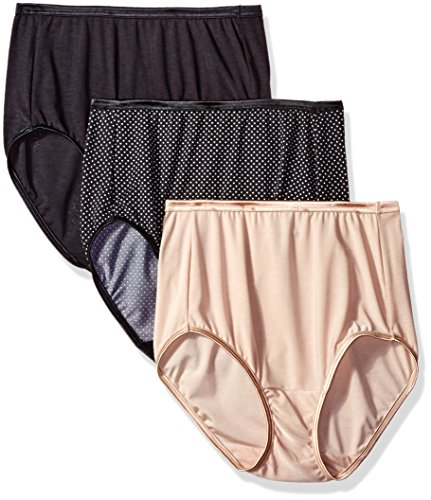 vanity-fair-womens-3-pack-illumination-brief-panty-13309-midnight-black-premiere-dot-print-rose-beig