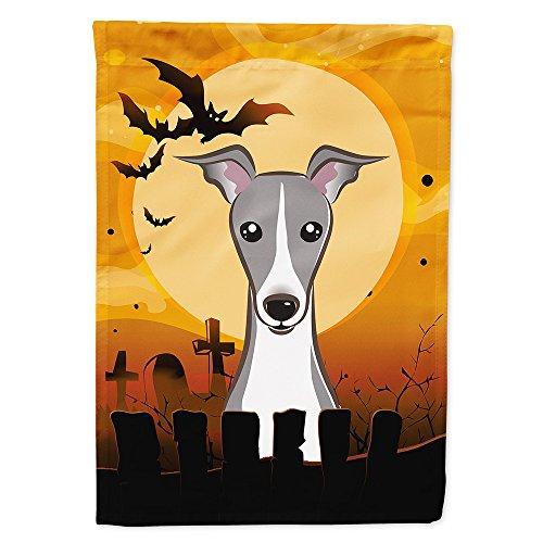 (Caroline's Treasures BB1794GF Halloween Italian Greyhound Garden Size Flag, Small,)