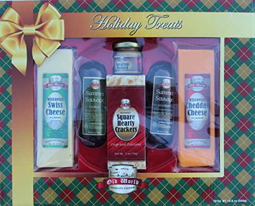 (Old World Sausage and Wisconsin Swiss and Cheddar Cheese Set Holiday Treats)