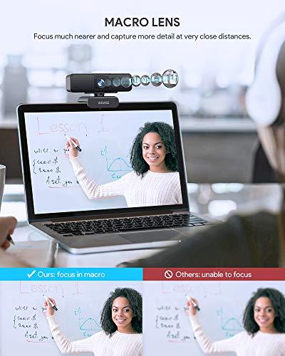 Webcam 1080P Full HD con Microfono, WEMISS Autofocus Webcam per PC con Correzione della Luce e Otturatore della Privacy VideoCamera per Video Chat Compatibile con Windows Mac e Android 4 spesavip