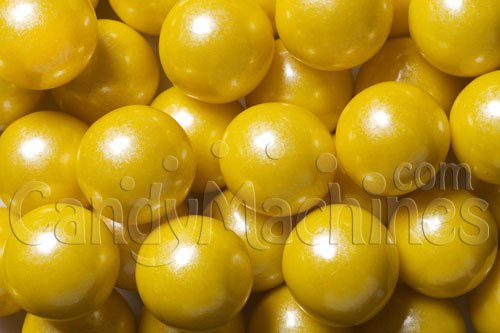 Gumballs By The Pound - 2 Pound Bag of Shimmer Pearl Yellow]()