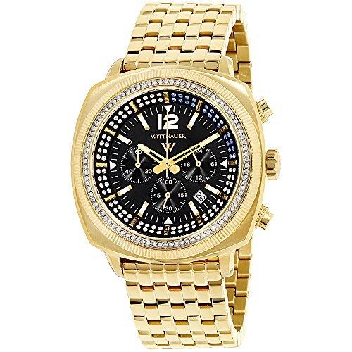 Wittnauer Black Dial Stainless Steel Men's Watch - Wittnauer Watches Mens