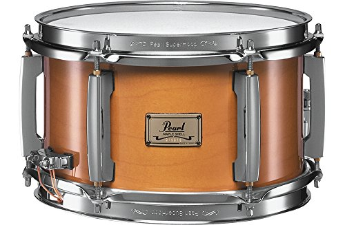 Solid Drum Maple Snare - Pearl M1060102 Maple Popcorn Snare Drum, 10-inchx6-inch, 6 ply, Natural Maple