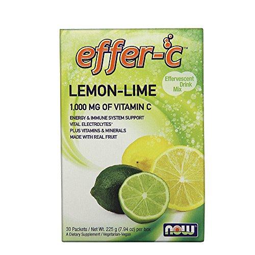NOW Effer-C Lemon Lime,30 (Lemon Lime Energy Immune Support)