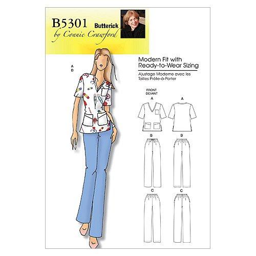 Butterick Patterns B5301 Misses'/Women's Top and Pants, Size WOMAN (XXL-1X-2X-3X-4X-5X-6X)