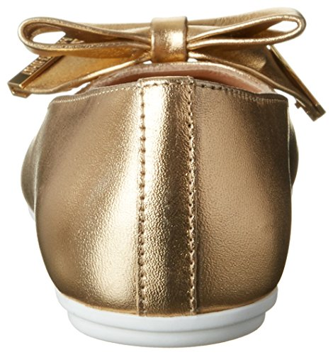 Oro Gold Bout Laminato Ballerines MOSCHINO Fille Or 9111 26013 Fermé 8awIFEx