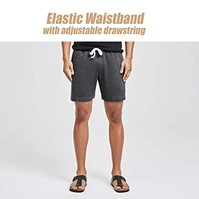 MaaMgic Mens Athletic Shorts Zipper Pocket 7 Workout Gym Casual Above Knee Outfit Shorts for Men Bodybuilding Pants Pajama